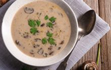 Kremalı Tadında Mantar Çorbası